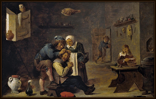 David Teniers, A Extração da Pedra da Loucura, 1670