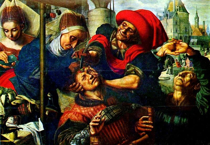 Jan Sanders Hemessen, A Extração da Pedra da Loucura, 1555