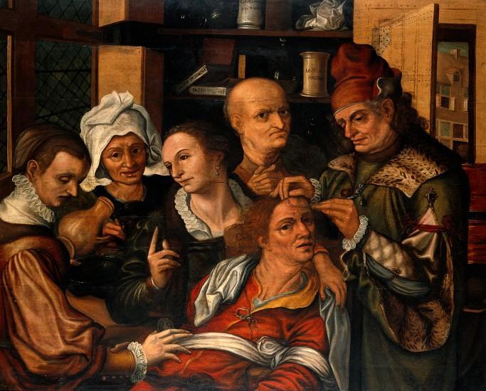 Pieter Huys, A Extração da Pedra da Loucura, 1561