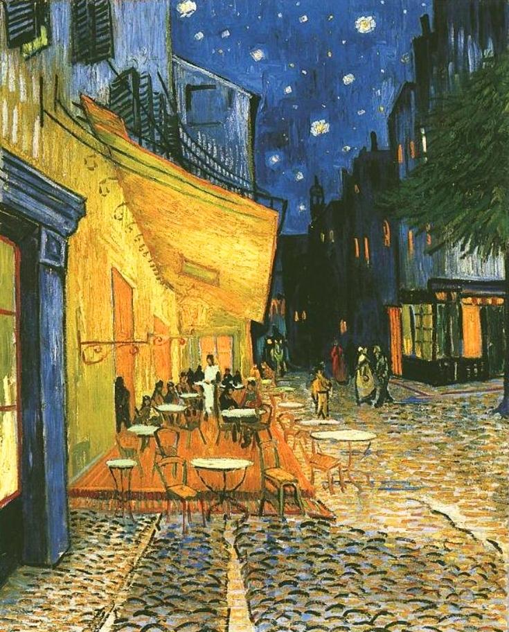 Vincent Van Gogh, Terraço do Café à Noite, 1888, Kröller-Müller Museum, Otterlo, Holanda