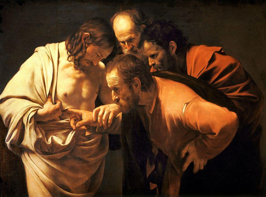Caravaggio, A Incredulidade de Tomé, 1601-02, Sanssouci, Potsdam, Alemanha