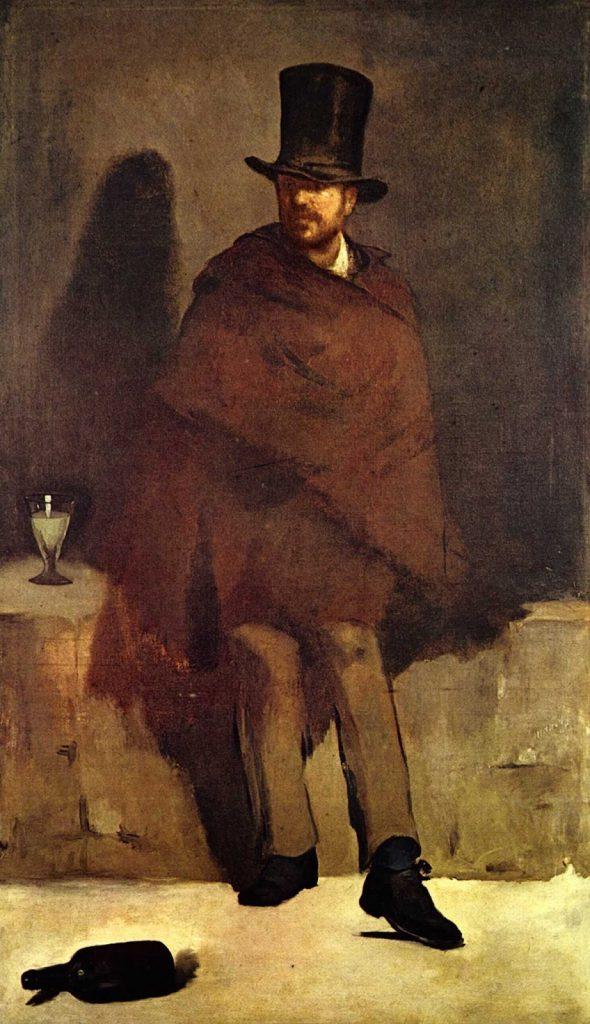 Édouard Manet, O Bebedor de Absinto, 1858-9, NY Carlsberg Glyptotek