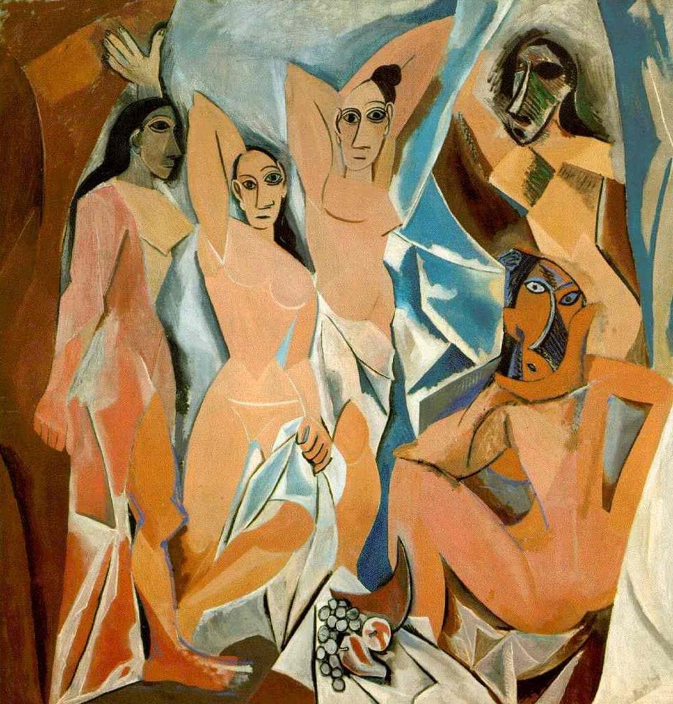 Pablo Picasso, Les Demoiselles D'Avignon, 1907, MoMa, Nova York