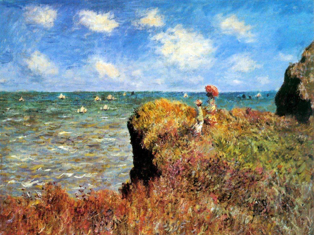 Claude Monet, Passeio sobre a Falésia, 1882, Art Institute of Chicago, EUA