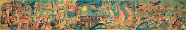 """Painel """"Eu Vi o Mundo, Ele Começava no Recife"""", 15X2m, 1929."""