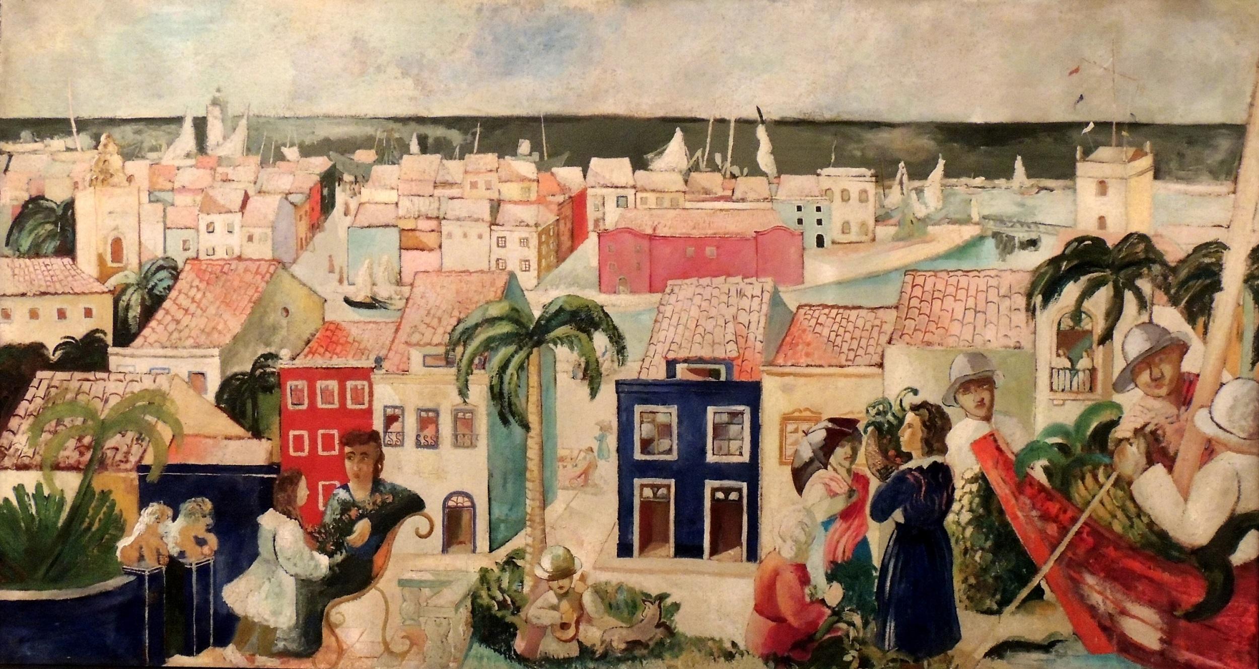 Visão Romântica do Porto de Recife, 1930